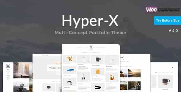 HyperX v3.9.2 – Portfolio, Freelancers & Agencies WP Theme