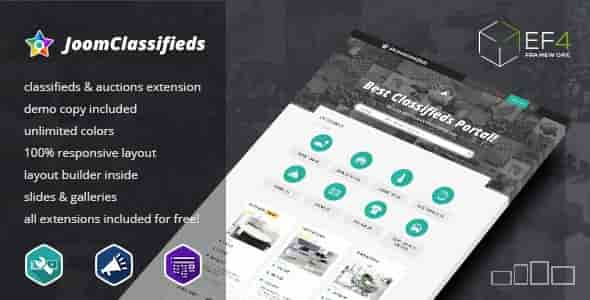 JoomClassifieds v1.02 – Multipurpose Classifieds Cortal Template