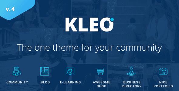 KLEO v4.3.6 – Pro Community, Multi-Purpose BuddyPress Theme