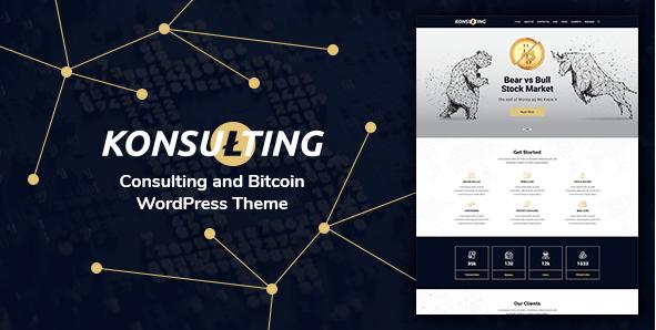 Konsulting v1.1 – Responsive Consulting & Bitcoin WordPress…