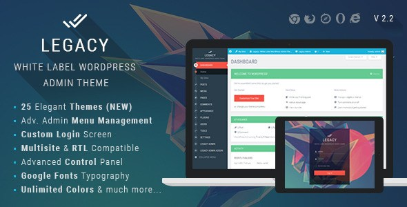 Download – Legacy v2.0 White label WordPress Admin Theme