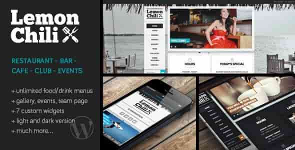 LemonChili v1.12 – a Premium Restaurant WordPress Theme
