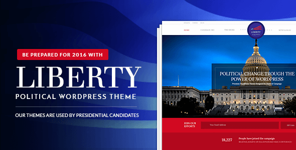 Liberty v1.2 – Your Responsive Political WordPress Theme