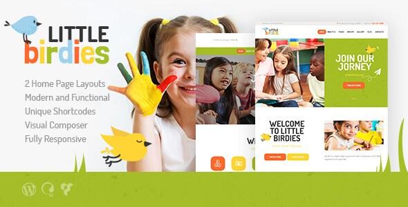 Little Birdies v1.1.1 – Multi-Purpose Children WordPress Theme