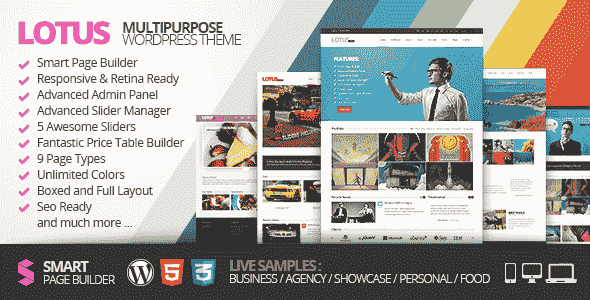 Lotus v3.9.0 – Flexible Multipurpose & WordPress Theme
