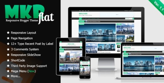 Download – MKRflat – Responsive Magazine/News Blogger Theme