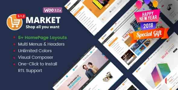 Market v2.1.4 – Responsive WooCommerce WordPress Shop Theme