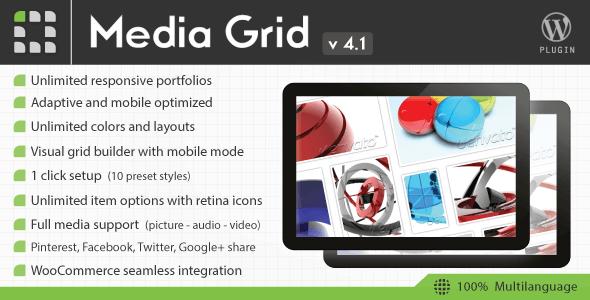 Media Grid v4.1 – WordPress Responsive Portfolio Plugin