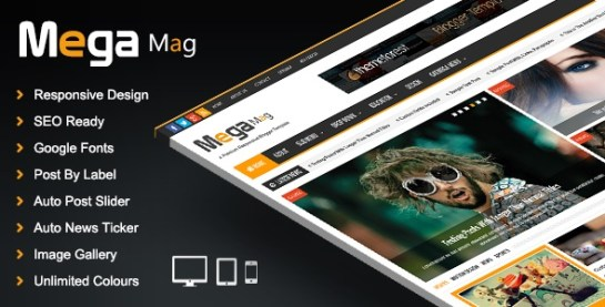 Download – Mega Mag V1.30 – Responsive Magazine Blogger Template