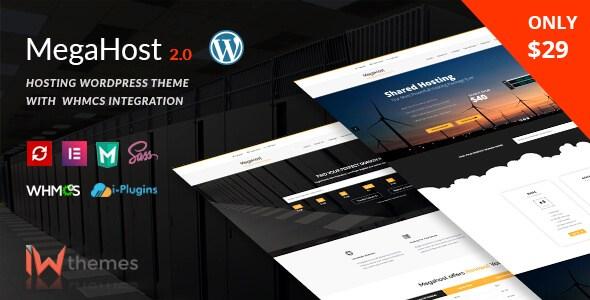 Megahost v2.0 – Hosting WordPress Theme With WHMCS Integration