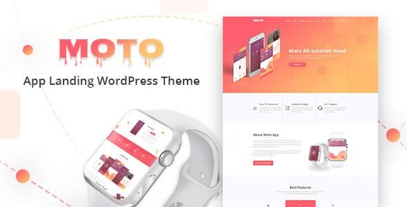 Moto v1.0 – Responsive WordPress Landing Page Theme
