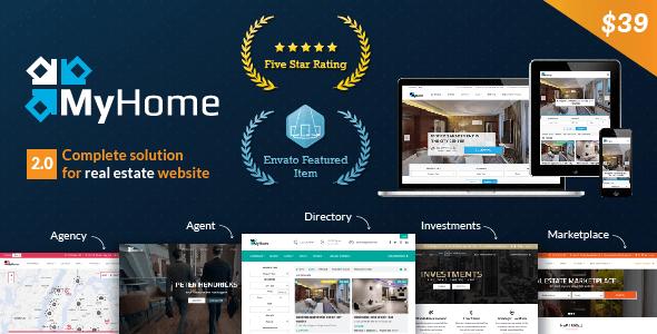 MyHome v2.0.21 – Responsive Real Estate WordPress Theme