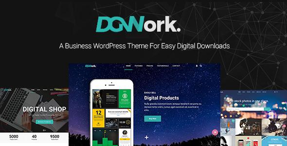 DGWORK V1.1.8 - BUSINESS THEME FOR EASY DIGITAL DOWNLOADS