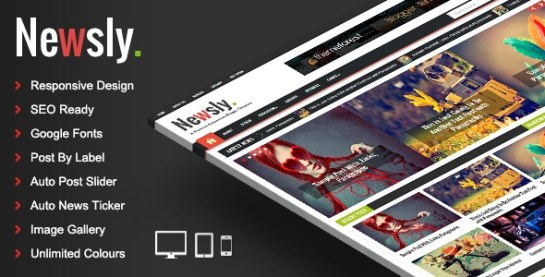 Download – Newsly – Responsive Multipurpose Blogger Template