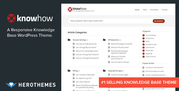 KNOWHOW V1.1.7 - A KNOWLEDGE BASE WORDPRESS THEME