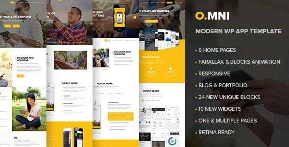 Omni v1.5.4 – Stylish Powerful App & Software WordPress Theme