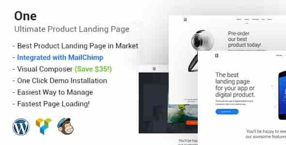 One v1.4 – Responsive WordPress Product Landing Page Theme