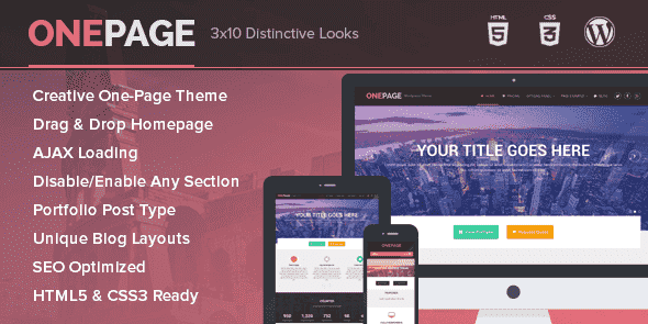 OnePage v1.1.11 – WordPress Portfolio & Single Page Business…
