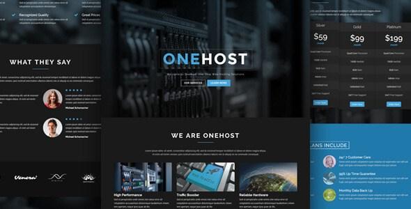 Onehost v1.3.3 – One Page WordPress Hosting Theme + WHMCS