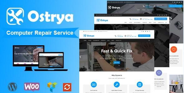Ostrya v1.0.7 – Responsive Computer Repair Service WordPress…