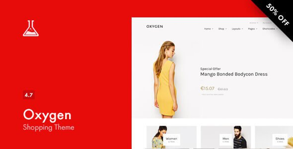Oxygen v4.7 – Responsive WooCommerce WordPress Theme