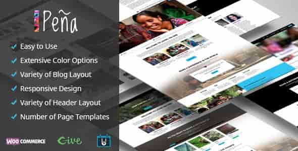 Pena v1.0.7 – Responsive Charity/Non-Profit WordPress Theme
