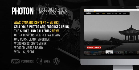 Photon – Fullscreen Photography WordPress Theme