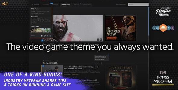 PowerUp v1.0 – Responsive Video Game Theme for WordPress