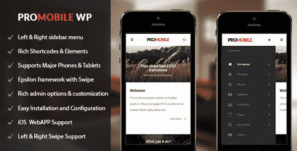 ProMobile v1.0.1 – Mobile and Tablet Responsive WordPress Theme
