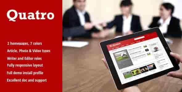 Quatro v3.4 – Responsive News & Magazine Drupal 7 Theme