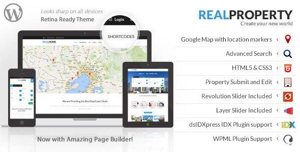 Real Property v1.8.9 – Responsive Real Estate WordPress Theme