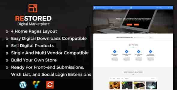 Restored v1.2 – Responsive MarketPlace WordPress Theme