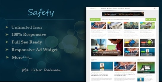 Download – Safety v1.2 – Responsive MultiPurpose Blogger Template