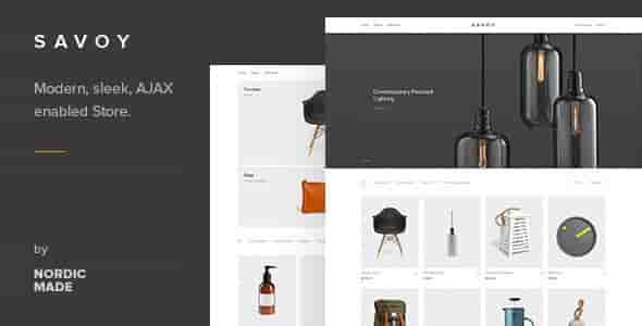 Savoy v1.8.4 – Minimalist AJAX WooCommerce WordPress Theme