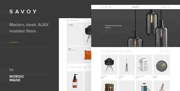 Savoy v1.8.4 – Minimalist AJAX WooCommerce WordPress Theme
