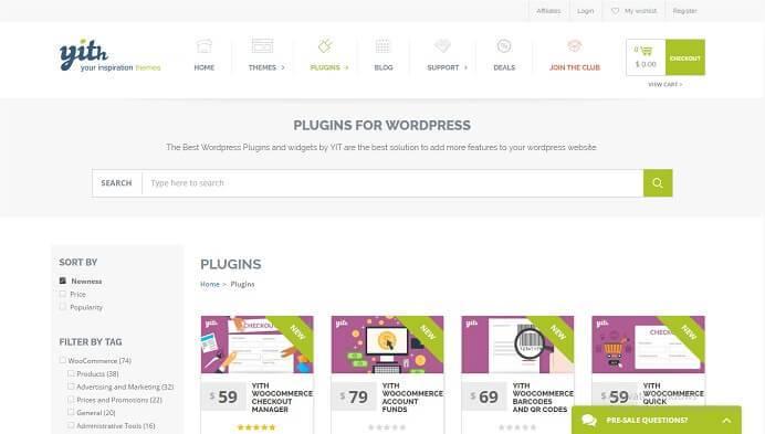 28+ Yithemes eCommerce WordPress Plugins Pack + Updates
