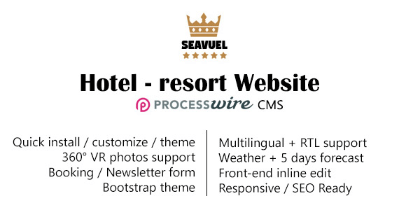 SeaVuel v1.2 – Multilingual – Hotel Website with CMS | Bootstrap…