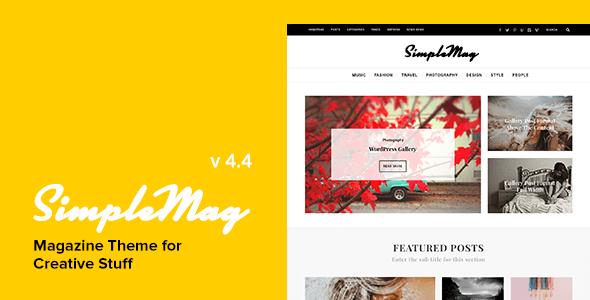 SimpleMag v4.4 – Magazine WordPress Theme for Creative Stuff