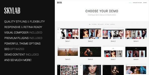 Skylab v2.0.8 – Portfolio / Photography WordPress Theme