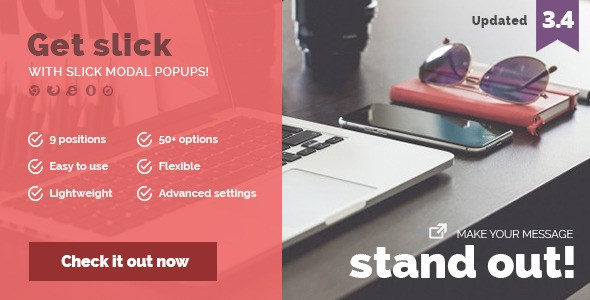 Slick Modal – CSS3 Powered Popups Javascript Plugin