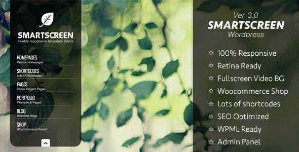 SmartScreen v3.1.1 – Responsive Fullscreen WordPress theme