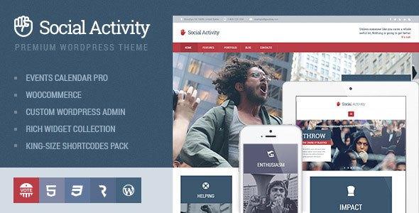 Social Activity v1.1.6 – Politics & Activism WP Theme