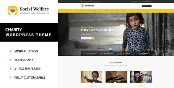 Social Welfare v1.2 – Responsive Charity WordPress Theme