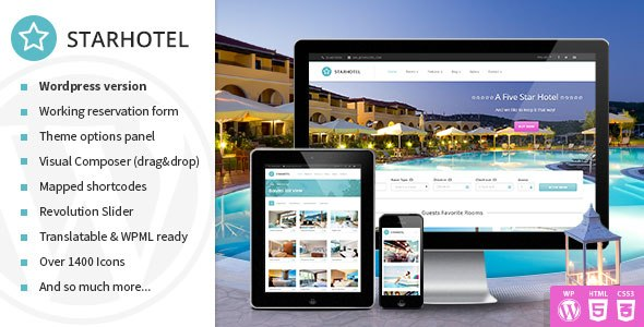 Starhotel – Responsive Hotel WordPress Theme
