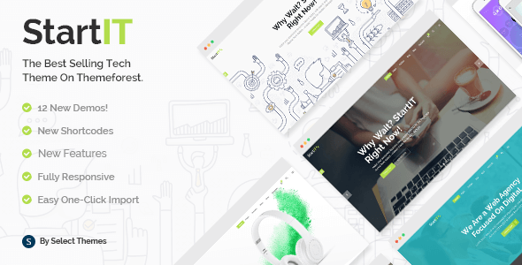 Startit v2.3 – A Fresh Startup WordPress Business Theme
