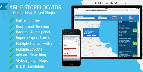 Download Agile Store Locator v3.1.3 | Google Maps Based WordPress…