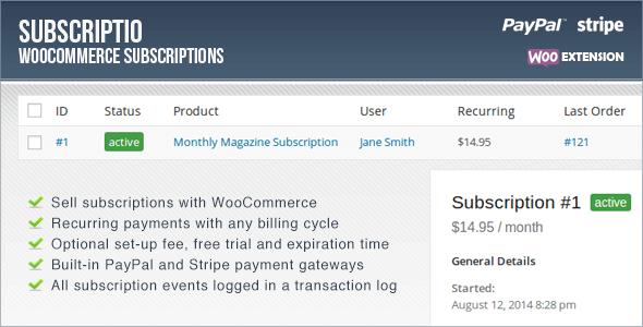 Subscriptio v2.2.1 – WooCommerce Subscriptions WP Plugin