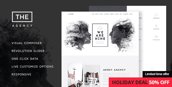 The Agency v1.3.5 – Creative One-Page Agency WordPress Theme