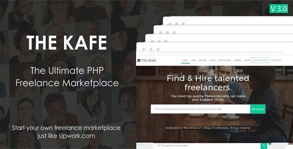 The Kafe v2.0 – Ultimate Freelance Marketplace PHP Script