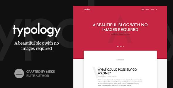 Typology v1.2 – Text Based Minimal WordPress Blog Theme